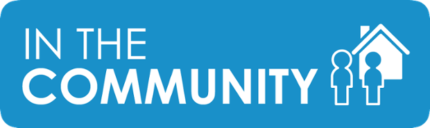 in the community button