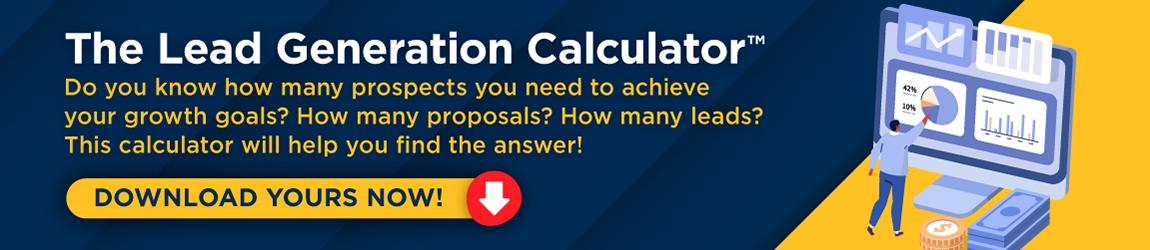 Download The B2B Lead Generation Calculator