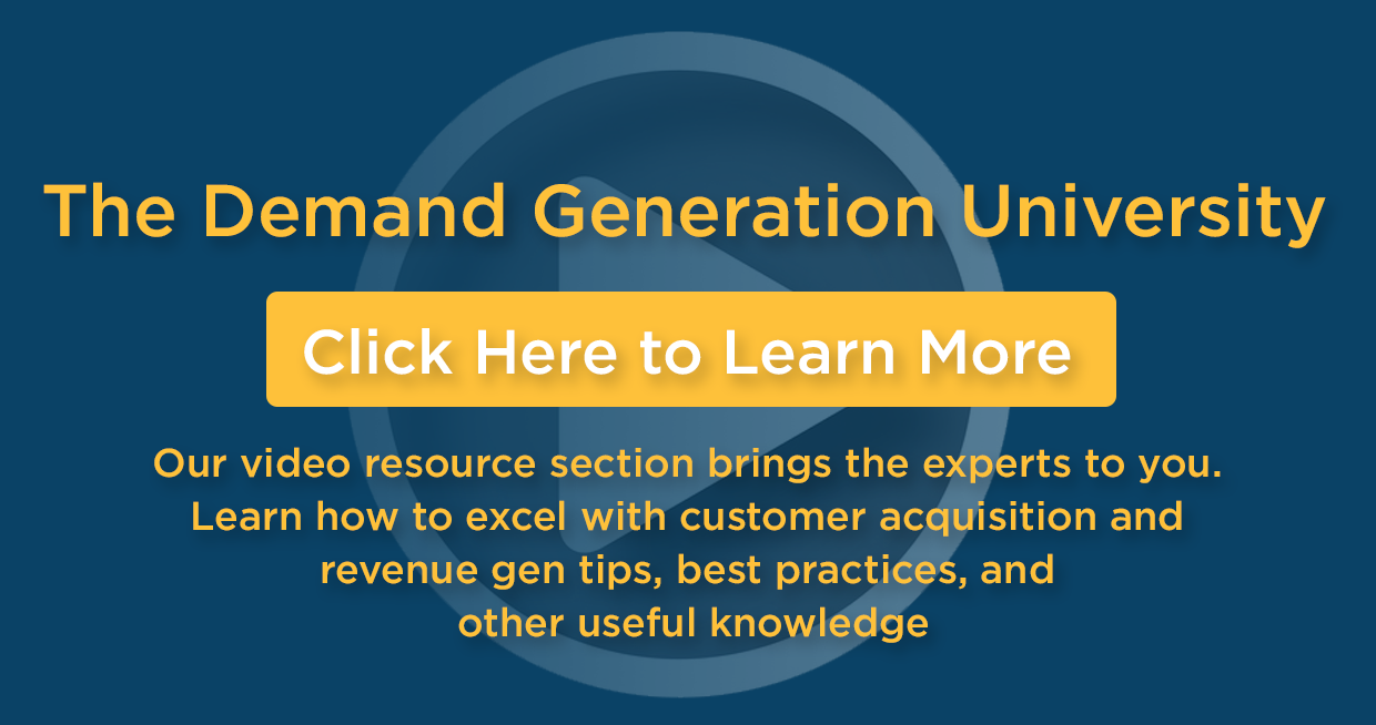 Demand Generation University Video Resource Section