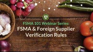 Foreign Supplier Verification Program Webinar