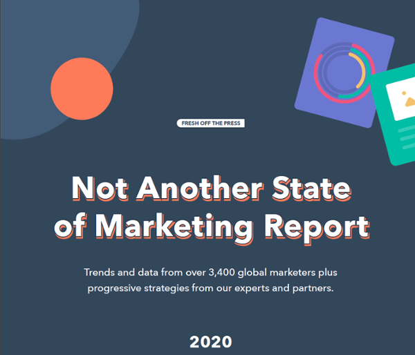 State of Marketing 2020 a list of stats about modern inbound marketing by Hubspot