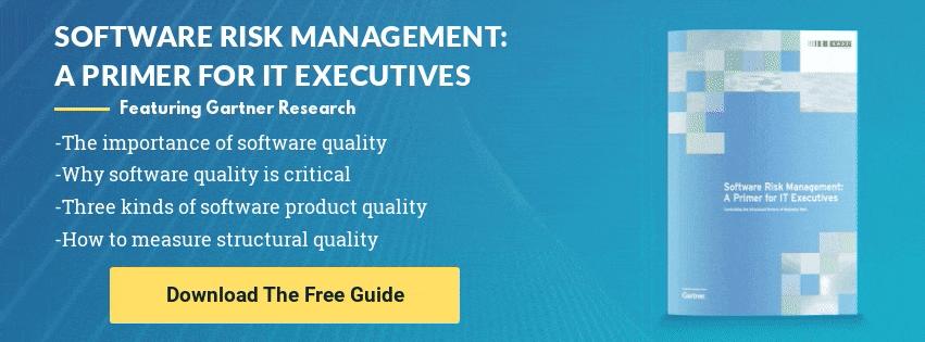 Gartner Research: Software Risk Management: A Primer For IT Executives