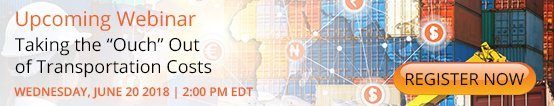 """Upcoming Webinar: Taking the """"Ouch"""" Out of Transportation Costs"""