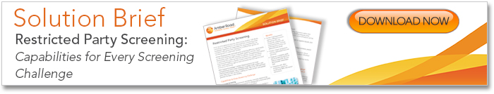 Restricted Party Screening Solution Brief