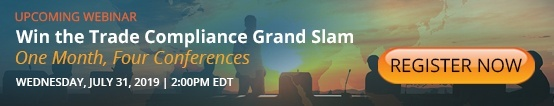 Win the Trade Compliance Gram Slam July 31