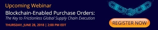 blockchain enabled purchase orders