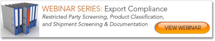Export Compliance Webinar