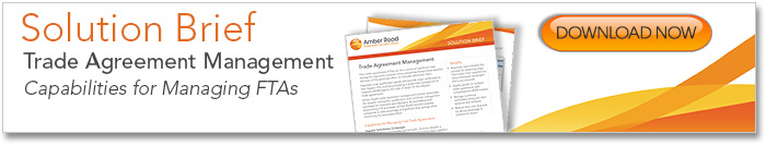 Trade Agreement Management