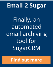 Email 2 Sugar automated SugarCRM archiving tool