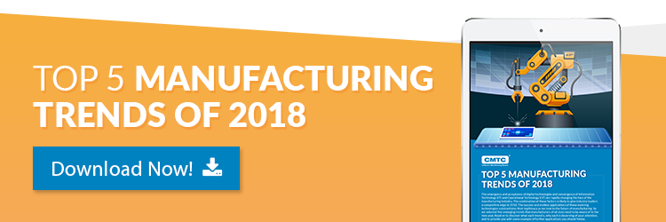 CMTC's Top Five Manufacturing Trends of 2018 Guide Call to Action Image
