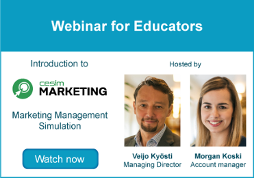 Webinar for Educators - Cesim Marketing