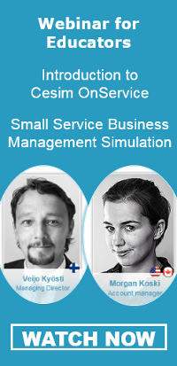 Cesim OnService Small Business Simulation Webinar