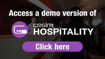 Access a demo version of Cesim Hospitality