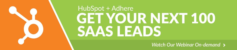 Adhere-HubSpot-SaaS-Marketing-Webinar