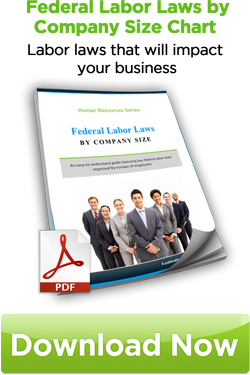 Federal Labor Laws by Company Size Chart