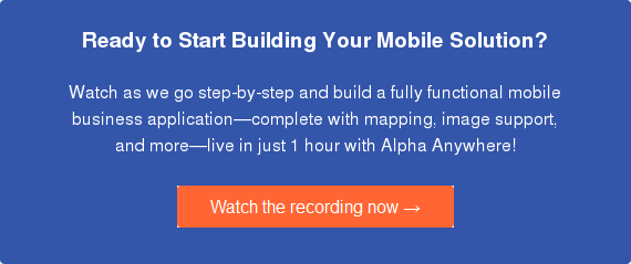 Mobile apps for business in 1 hour.