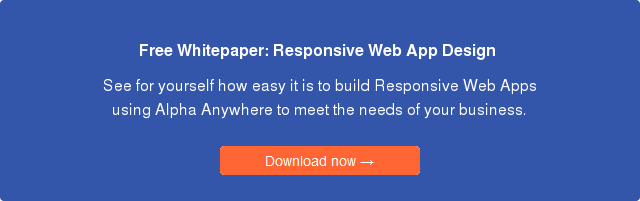 Responsive html5 web application design