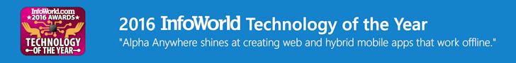 InfoWorld Rapid Mobile Application Development Award