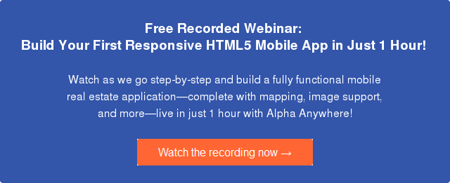 Free webinar: how to build your first HTML5 web app