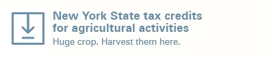 New York State Tax Credits for Agricultural Activities