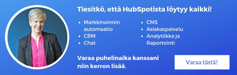 HubSpotista löytyy kaikki tarvittava