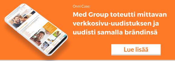Onni Med Group toteutti mittavan verkkosivu-uudistuksen ja uudisti samalla brändinsä.