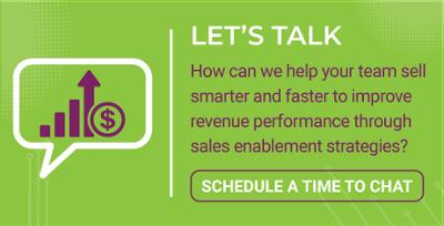 LeadG2 let's talk sales enablement button
