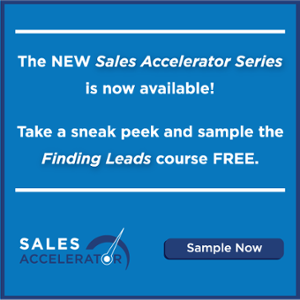 Try the Finding Leads Course from the new Sales Accelerator Series!
