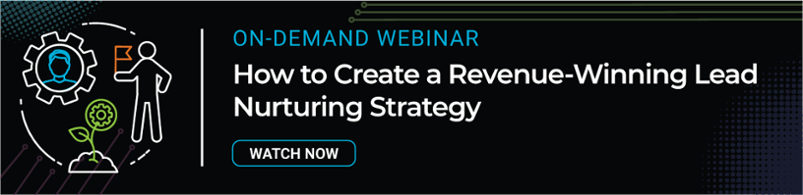 on-demand webinar: how to create a revenue-winning lead nurturing strategy