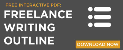 Freelance Writing outline -- free interactive PDF