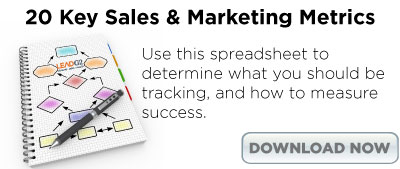 20 Key Sales & Marketing Metrics Spreadsheet