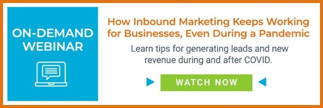 on-demand webinar graphic: how inbound marketing keeps working during a pandemic