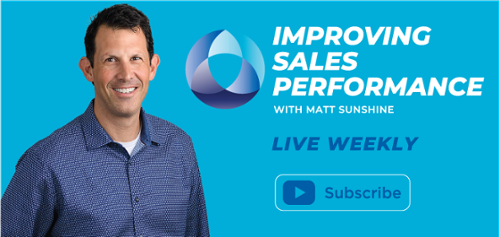 Improving Sales Performance - Live Weekly - Subscribe