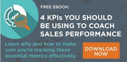 EBOOK: THE 4 KPIS YOU SHOULD BE USING TO COACH SALES PERFORMANCE