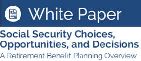 White Paper on Social Security Choices