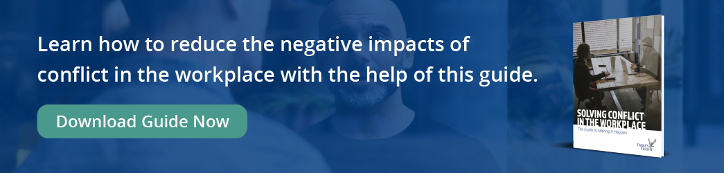Learn how to reduce the negative impacts of conflict in the workplace with the help of this guide - Download Now