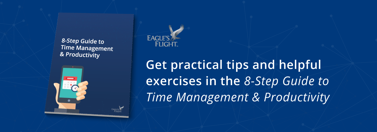 Get practical tips and helpful exercises in the 8-step guide to time management and productivity.