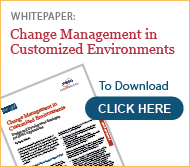 change management in customized environments