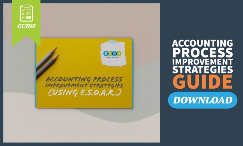 accounting process improvement strategies ebook mockup call to action