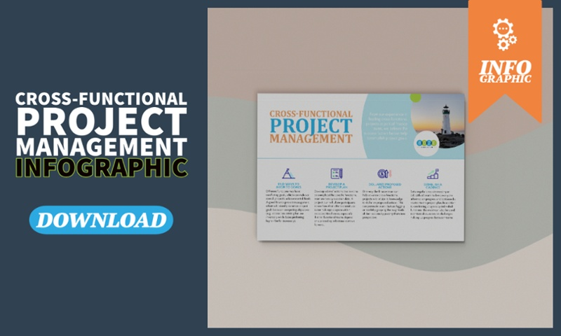 cross-functional project management infographic call to action