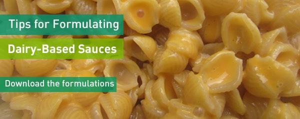 Download sauce formulations