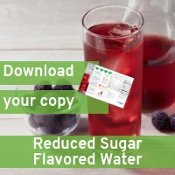 reduced sugar flavored water