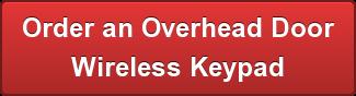 Overhead Door Wireless Key Pad Programming