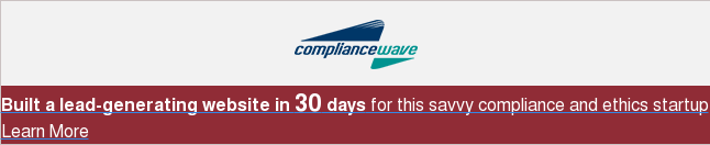 Built a lead-generating website in 30 days for this savvy compliance and ethics  startup Learn More