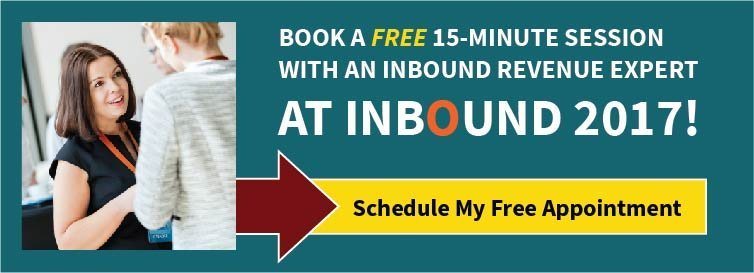 Book A Free 15-Minute Session With An Inbound Revenue Expert At INBOUND 2017!