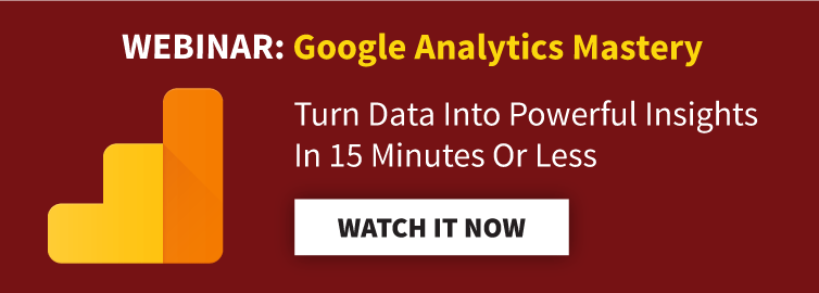 Webinar: Google Analytics Mastery. Turn Data Into Powerful Insights In 15 Minutes Or Less. Watch It Now