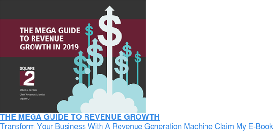 THE MEGA GUIDE TO REVENUE GROWTH Transform Your Business With A Revenue Generation MachineClaim My E-Book