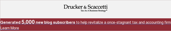 Generated 5,000 new blog subscribers to help revitalize a once-stagnant tax and  accounting firm Learn More