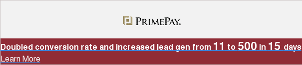 Doubled conversion rate and increased lead gen from 11 to 500 in 15 days Learn  More