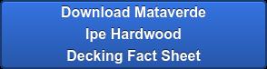 Download Mataverde Ipe  Hardwood Siding Fact Sheet